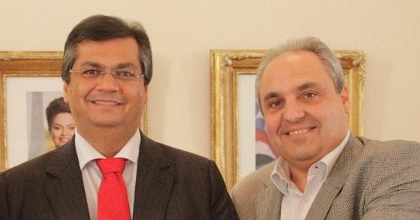 Governador Flávio Dino ao lado do secretário Marcelo Tavares.