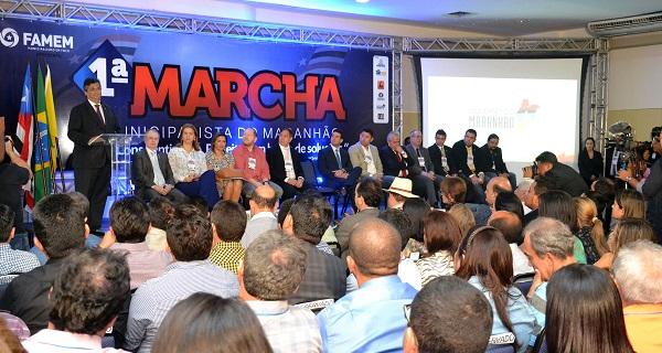 Governador Flávio Dino na 1ª Marcha Municipalista.