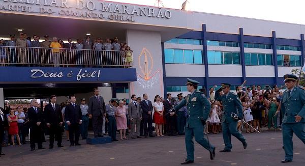 Governador Flávio Dino na solenidade de formatura dos 433 primeiros novos policiais militares do Maranhão da turma de 2015.