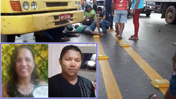 Casal morre de acidente na cabeceira do viaduto de Bacabeira.