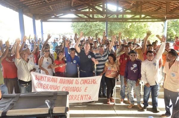 Em Buriticupu, agricultores familiares da região se reúnem em apoio a Márcio Honaiser.
