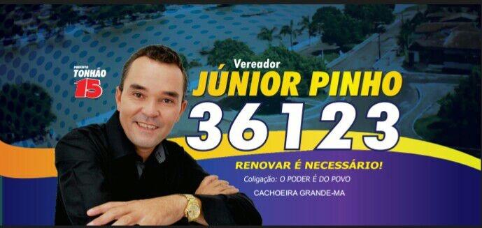Júnior Pinho agradece aos amigos e amigas pela sua votação.