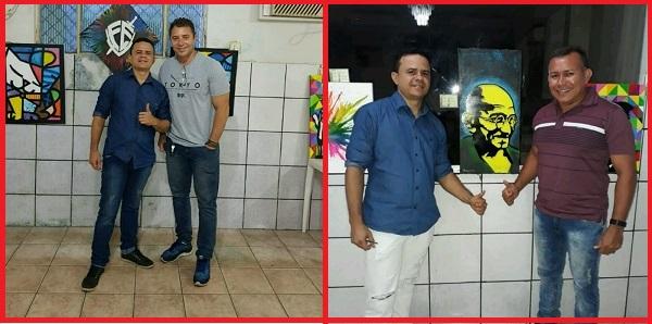 """Artista Jefferson de Jesus realiza """"Exposição de Artes"""" na cidade de Rosário."""