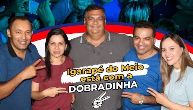 Josimar e Detinha recebem apoio do Prefeito deIgarapé do Meio e arrastam uma multidão na carreata do governador Flávio Dino.