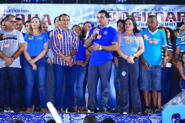 O Deputado Josimar Maranhãozinho e Detinha agradecem ao carinho do povo de Zé Doca.