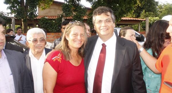LUCIANE CASTRO E O GOVERNADOR FLÁVIO DINO.