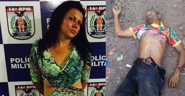 Leila Jacira Mendes Damasceno, 30 anos e o assaltante morto.