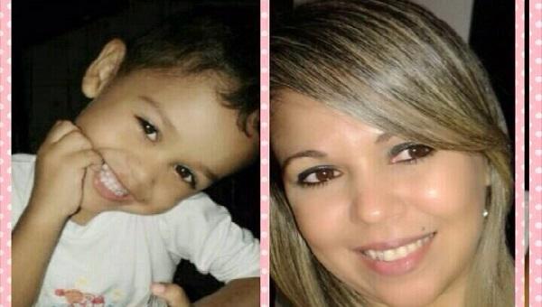 Pedro Rhyan de 03 anos e Ana Ribeiro.