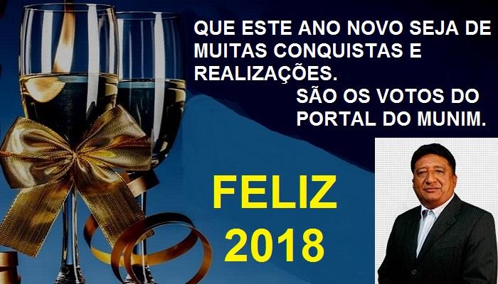 O Portal do Munim deseja aos seus leitores um feliz 2018.
