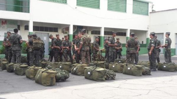 Exército começa a enviar tropas para segurança no interior durante as eleições.