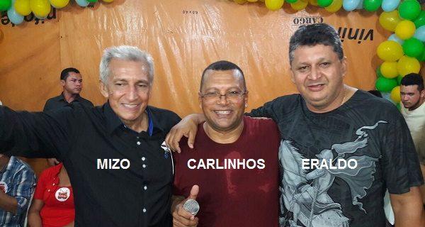 MIZO, CARLINHOS RADIALISTA E ERALDO.
