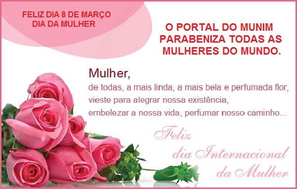 O Portal do Munim parabeniza todas as mulheres pelo seu dia.