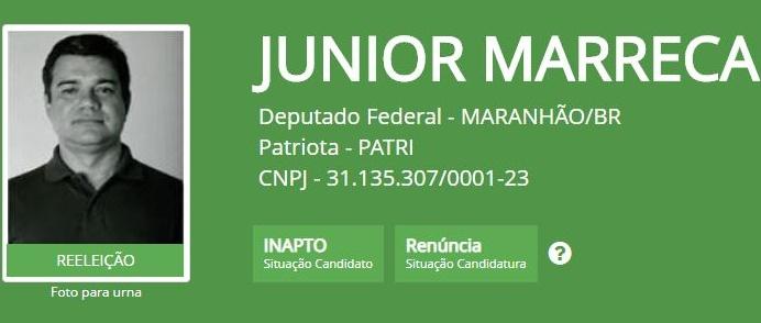 Deputado Júnior Marreca desiste de tentar a reeleição, e coloca o filho.