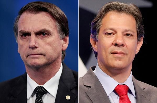 Datafolha: Bolsonaro tem 58% e Haddad 42% dos votos válidos.