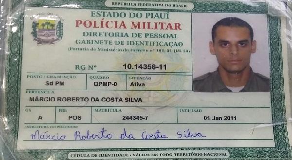 PM Márcio Roberto Costa Silva.