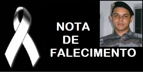 NOTA DE FALECIMENTO DO POLICIAL JAMES DE OLIVEIRA FERNANDES.