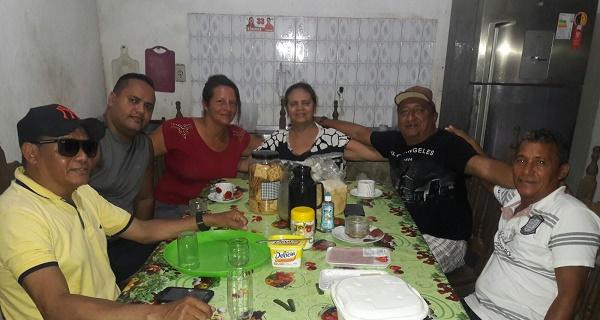 PRÉ-CANDIDATAS SOCORRO, LUCIANNY CASTRO E PRESIDENTES DE PARTIDOS.