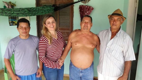 PRÉ-CANDIDATO A VEREADOR BENTO, VEREADORA GARDÊNIA SABÓIA, COMERCIANTE DIONISIO E GEL.