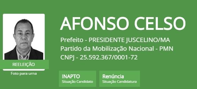 PREFEITO AFONSO CELSO.