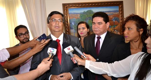PREFEITO ALAN DE BACABEIRA COM O GOVERNADOR FLÁVIO DINO.