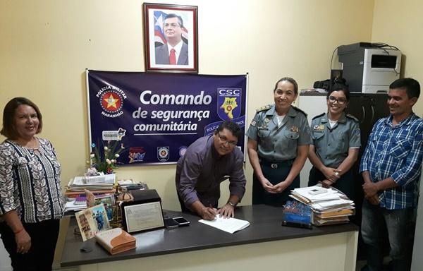 Prefeitura de Primeira Cruz assina parceria com o PROERD através da PMMA.