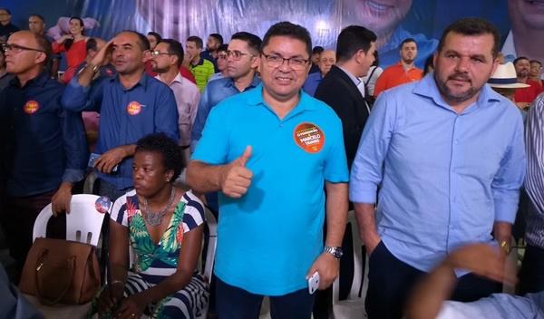 Prefeito George Luiz de Primeira Cruz participa da Convenção de Flávio Dino em São Luís.