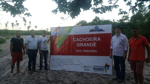 """Prefeito Tonhão de Cachoeira Grande, recebe obra da """"Escola Digna"""" no povoado Pindobal."""