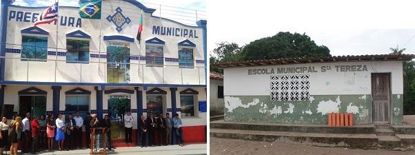 PREFEITURA DE ICATU E ESCOLA CONSTRUIDA EM 07-09-91 NO GOVERNO ZOZILDO PRETO NO POVOADO BATALHA.