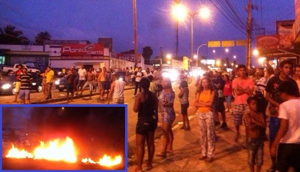 PROTESTO NA AVENIDA DA COHAB.