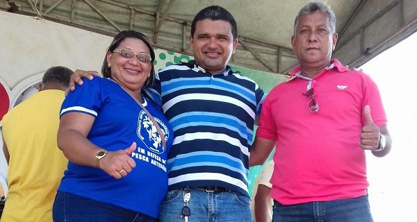 Presidente do sindicato de pescadores de Rosário Lucia, willame anceles e o presidente da associação s pescadores de Rosário e pré candidato a vereador Gil Coimbra.