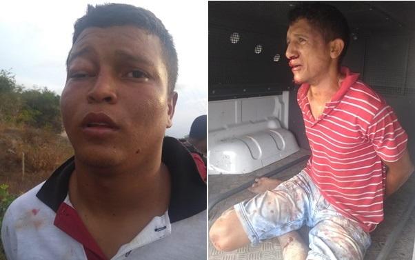Policia militar do 27º BPM de Rosário prenderam dois Bandidos que assaltaram os correios de Humberto de Campos.