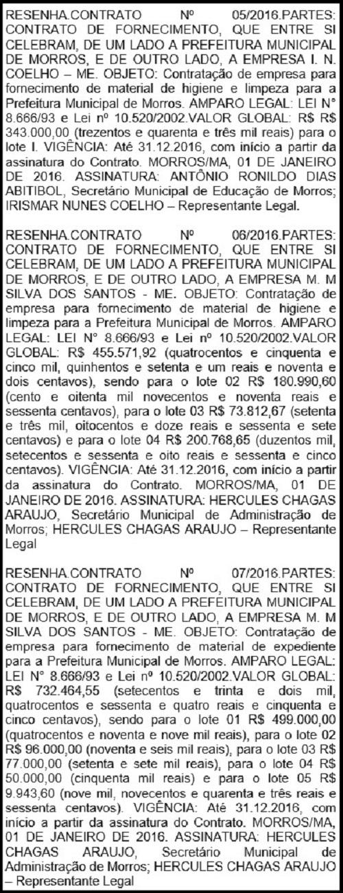 RESENHA DE MORROS.