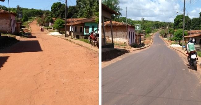 """A cidade de Cachoeira Grande esta de """"Cara Nova"""" com o asfaltamento de várias ruas da cidade."""