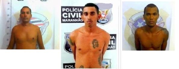 Reginaldo Cardoso Silva,  Railson Araujo Sousa, Julio Cesar Pereira.