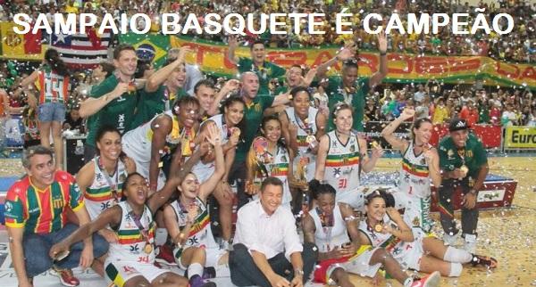 SAMPAIO BASQUETE É CAMPEÃO BRASILEIRO.