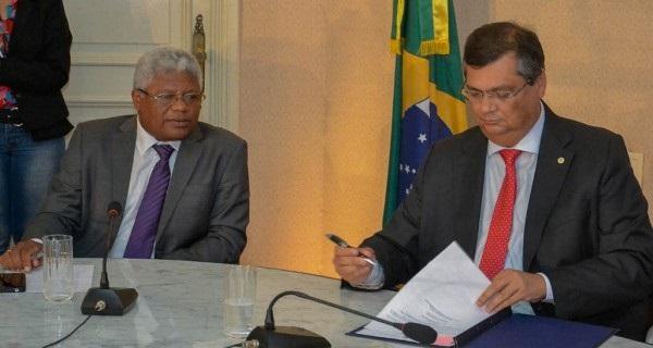 SECRETÁRIO DA SEIR GERSON PINHEIRO E O GOVERNADOR FLÁVIO DINO.