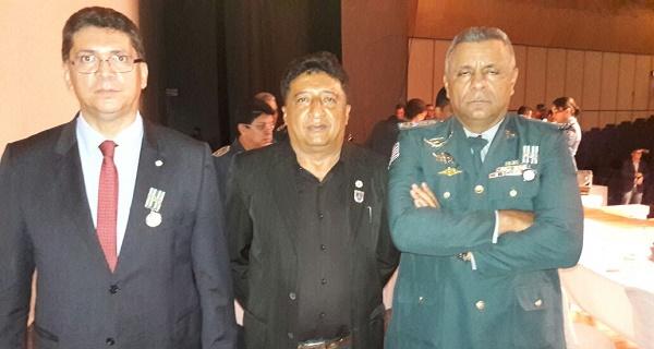 SECRETARIO JEFFERSON PORTELA, TENENTE CARLOS E O CEL. PM PEREIRA.