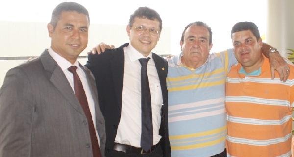 SIDRACK, DEPUTADO JOÃO MARCELO, RIBAMAR LOPES E FABIANO LOPES.