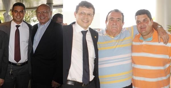 SIDRACK, SENADOR JOÃO ALBERTO, DEPUTADO JOÃO MARCELO, RIBAMAR LOPES E FABIANO LOPES.