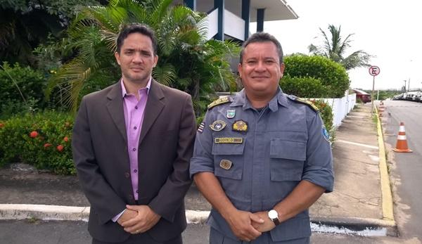 Superintendente de policia civil do interior se reuniu com coronel Zózimo CMT do policiamento do interior da PM.