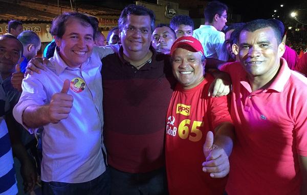 SUPLENTE DE SENADOR PAULO MATOS, FLÁVIO DINO, PP E O VEREADOR PRETO.