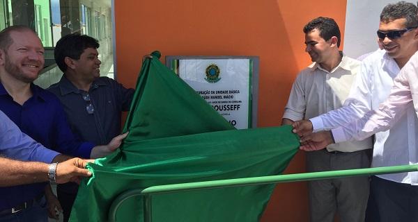 Secretário de Comunicação e Assuntos Políticos, Márcio Jerry, e presidente da Caema, Davi Telles,  em Barra do Corda.