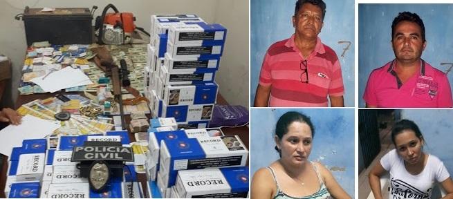 Silvério Ribeiro Leal, 62 anos, Rômulo Barros de Siqueira, 37 anos, Juçara Fonseca Figueiredo, 27 anos, e Maria Leomar Pereira Silva, 40 anos.