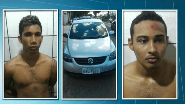 Subtenente da Polícia Militar sofre sequestro relâmpago na porta de casa por três bandidos e levada no próprio carro.