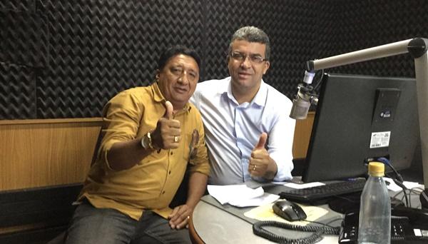 """O diretor do Portal do Munim visita o programa """"Acorda Maranhão"""" da Mirante AM."""