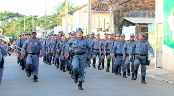 27º BPM de Rosário participa do tradicional Desfile Cívico em comemoração à Independência do Brasil.