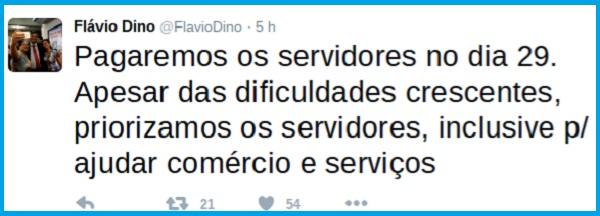 TWITTER DE FLÁVIO DINO.