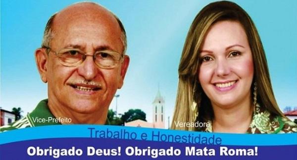 Vice-prefeito Dr. Jackson e a vereadora Fernanda Maria.