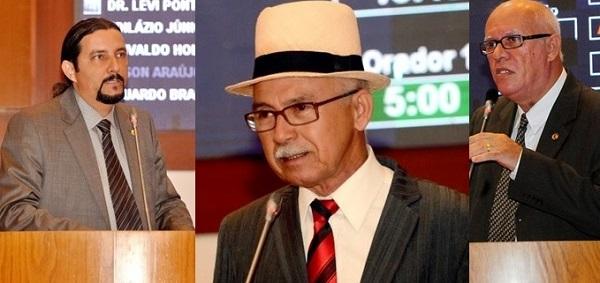 DEPUTADOS JUNIOR VERDE, FERNANDO FURTADO E EDSON ARAÚJO.
