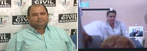 """ex-prefeito de São Pedro D´Água Branca, Ildézio Gonçalves de Oliveira, o """"Juca""""  e Edilane Pereira do Nascimento"""